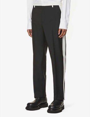 Valentino Panelled wool and mohair-blend trousers