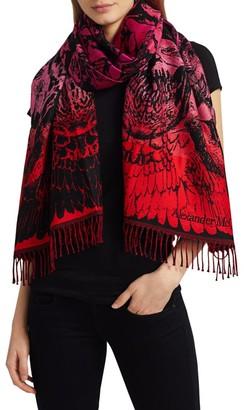 Alexander McQueen Paradise Skull Wool Scarf