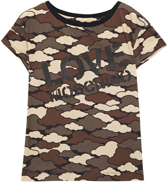 Love Moschino Appliqued Printed Cotton-jersey T-shirt
