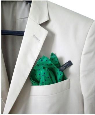 Ermenegildo Zegna Green Silk Scarves & pocket squares