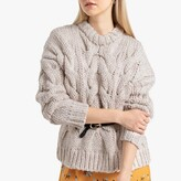 La Redoute Collections Chunky Oversized Cable Knit Jumper with Crew Neck