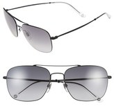 Gucci Men's 58Mm Navigator Sunglasses - Matte Black/ Grey Gradient