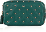 Anya Hindmarch Studded Heart Holly leather cosmetics case