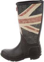 Hunter Boys' Flag Printed Rain Boots