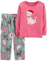 Carter's Toddler Girls 2-Pc. Fleece Cat Pajamas Set