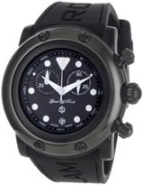 Glam Rock Women's GR61111 Miami Beach Chronograph Black Dial Black Silicone Watch