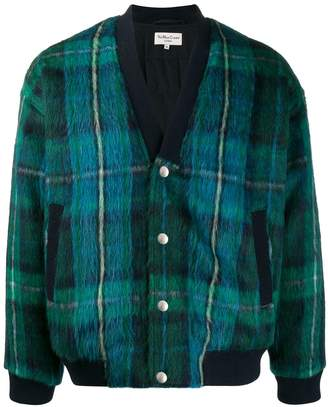 YMC tartan pattern bomber jacket