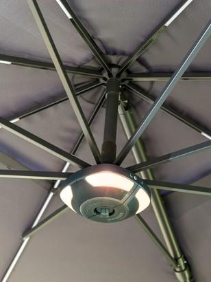 Kettler LED Garden Parasol Speaker, Grey