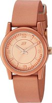 Skechers Women's 'The Rosencrans Midsize' Quartz Plastic and Silicone Casual Watch, Color:Rose Gold-Toned (Model: SR6081)