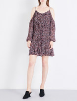 Paige Carmine silk-georgette mini dress