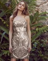 Lipsy Sequin Bandeau Mini Dress