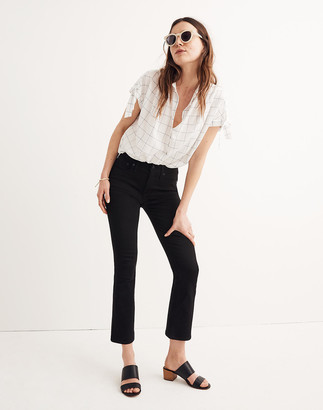 Madewell Petite Cali Demi-Boot Jeans in Black Frost