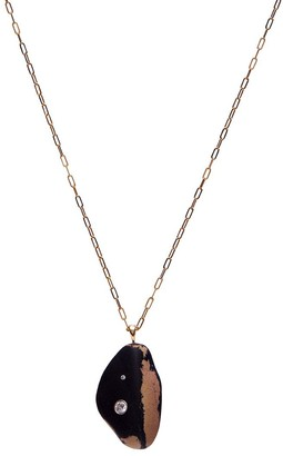 Cvc Stones 18kt yellow gold diamond Marbled necklace