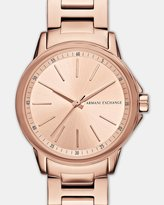Armani Exchange Lady Banks Rose Gold Tone Analogue Watch