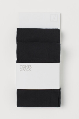 H&M 2-pack Lightweight Tights - Black