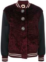 No.21 button embellished bomber jacket