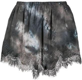 Gold Hawk Ella lace-embellished shorts