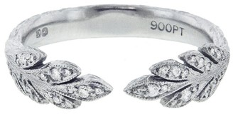 Cathy Waterman Open Leafside Diamond Ring - Platinum