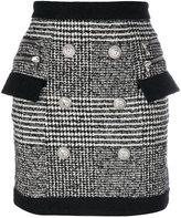 Balmain embroidered mini skirt - women - Cotton/Acrylic/Viscose/Virgin Wool - 36