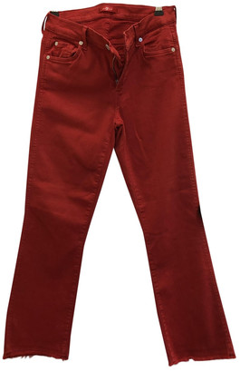 7 For All Mankind Red Denim - Jeans Jeans for Women