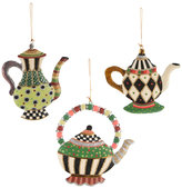 Mackenzie Childs MacKenzie-Childs - Wonderland Teapot Tree Decorations - Set of 3