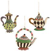 Mackenzie Childs Wonderland Teapot Tree Decorations