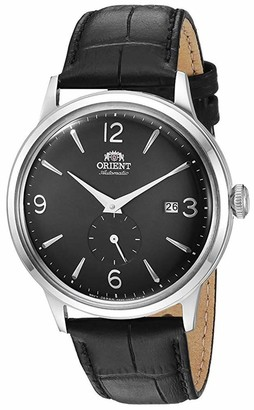 Orient Men's 'Bambino Small Seconds' Japanese Automatic Stainless Steel and Leather Dress Watch Rose gold (Model: RA-AP0001S10A)