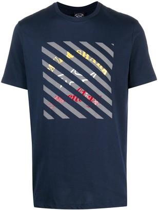 Paul & Shark geometric-print cotton T-shirt