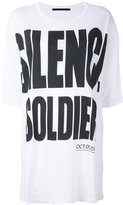 Haider Ackermann 'Silence is Golden' oversize T-shirt - women - Cotton - XS