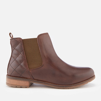 Barbour Women's Abigail Leather Quilted Chelsea Boots - Wine Mix