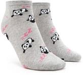 Forever 21 FOREVER 21+ Panda Graphic Ankle Socks