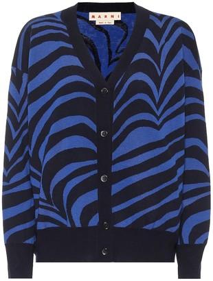 Marni Zebra-print virgin wool cardigan