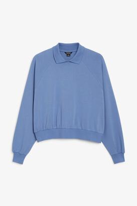 Monki Collar sweatshirt