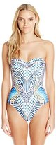 Mara Hoffman Women's Cut Out Back Bustier One-Piece Swimsuit