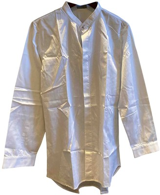 Christian Dior White Cotton Shirts