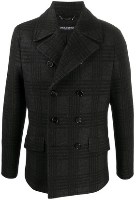 Dolce & Gabbana Plaid-Pattern Double-Breasted Jacket