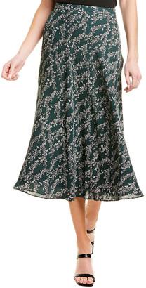 BCBGMAXAZRIA Floral Midi Skirt