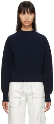 Studio Nicholson Navy Relaxed Sweater