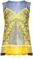 Altuzarra Sonora cami-overlay silk top