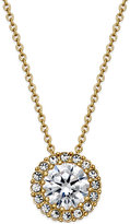 Eliot Danori Gold-Tone Framed Crystal Pendant Necklace, Only at Macy's