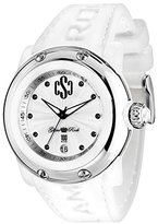 Glam Rock Women's GR62008 Miami Beach Silver Dial White Silicone Watch