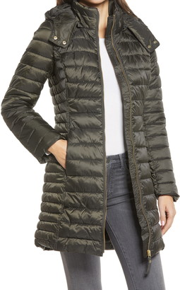 Joules Canterbury Long Puffer Jacket with Removable Hood