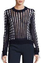 Alberta Ferretti Long Sleeve Knit Sweater