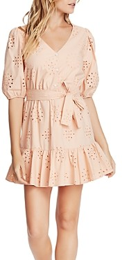 1 STATE Cotton Eyelet Flounce Dress
