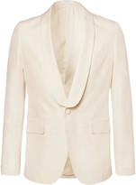 Boglioli - Cream Slub Silk Tuxedo Jacket