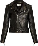 Saint Laurent L171 distressed-leather jacket
