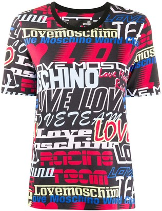 Love Moschino all-over logo print T-shirt