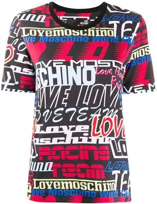 Love Moschino all-over logo print T-shirt