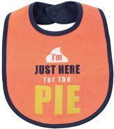 "Carter's Baby Embroidered ""I'm Just Here for the Pie"" Thanksgiving Teething Bib"