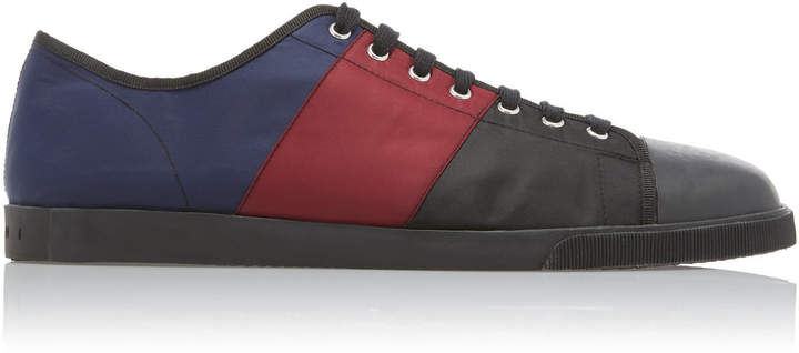 Marni Low-Top Colorblocked Techno-Jersey Sneakers